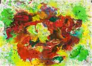 American Mixed Media on Paper Signed Frankenthaler