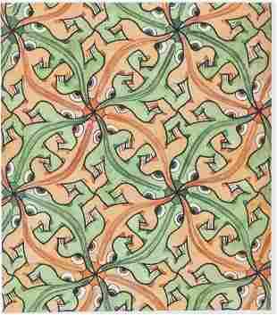 """Dutch Signed """"MCEscher"""" Lithograph on Paper 73/200"""