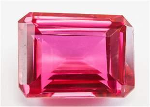 42.95ct Emerald Cut Pink Natural Ruby GGL