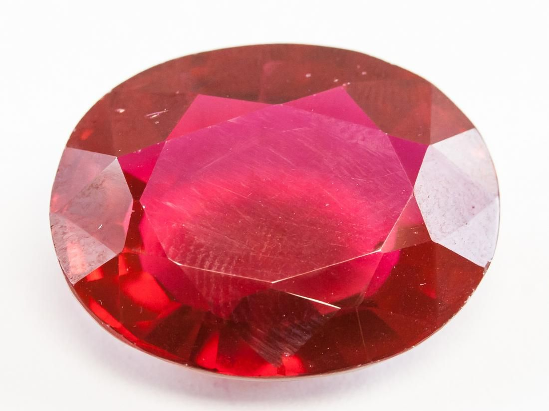 30.95ct Oval Cut Blood Red Natural Ruby GGL