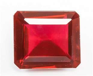 37.55ct Emerald Cut Red Natural Ruby GGL