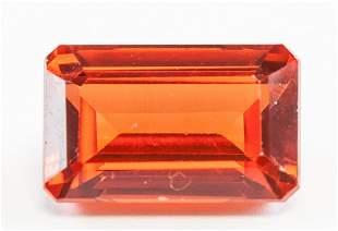 13.00ct Emerald Cut Orange Natural Sapphire GGL