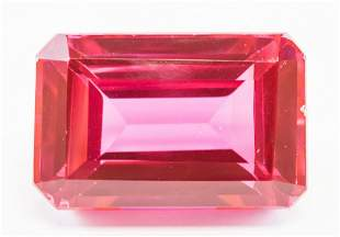 41.95ct Emerald Cut Pink Natural Ruby GGL