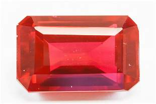 31.55ct Emerald Cut Blood Red Natural Ruby GGL