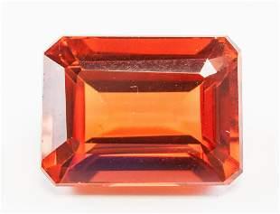 13.10ct Emerald Cut Orange Natural Sapphire GGL