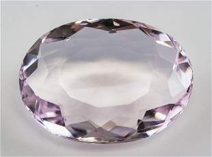 49.45ct Oval Cut Pink Natural Amethyst GGL