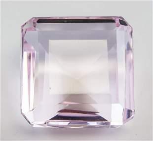 65.45ct Emerald Cut Pink Natural Amethyst GGL