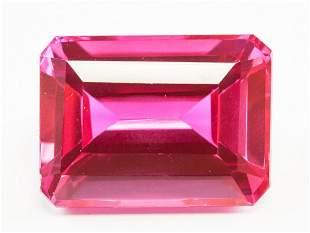 65.45ct Emerald Cut Pink Natural Ruby GGL