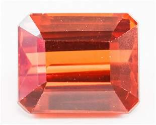 15.95ct Emerald Cut Orange Natural Sapphire GGL