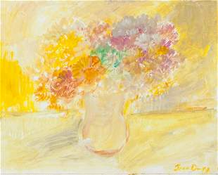 French Oil on Canvas Flowers Signed Jean Dufy