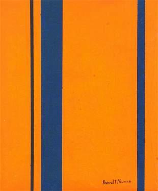 American Oil on Canvas Signed Barnett Newman