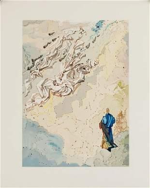 Unsigned Spanish Woodblock Attr. Salvador Dali