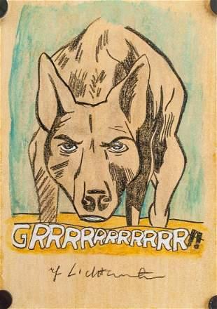 American Art Mixed Media Signed Roy Lichtenstein