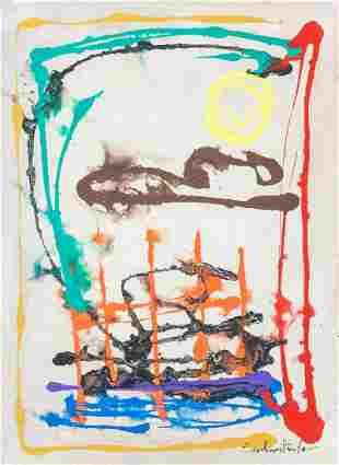 """American Oil on Canvas Signed """"Frankenthaler"""""""