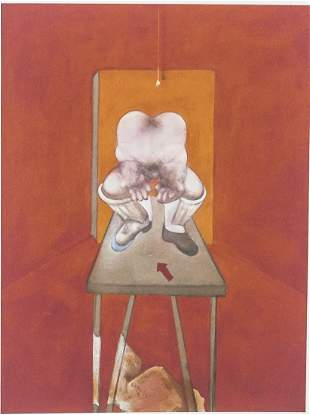 "English Linocut 17/100 Signed ""Francis Bacon"""