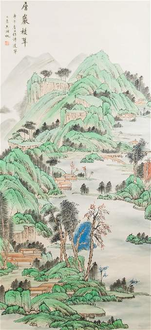 Wu Hufan 1894-1968 Chinese Watercolor on Scroll