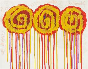 American Oil on Canvas Signed Cy Twombly