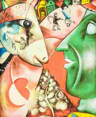 Russian-French Oil on Canvas Signed Marc Chagall
