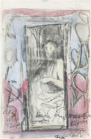 Mixed Media on Paper Signed Christo