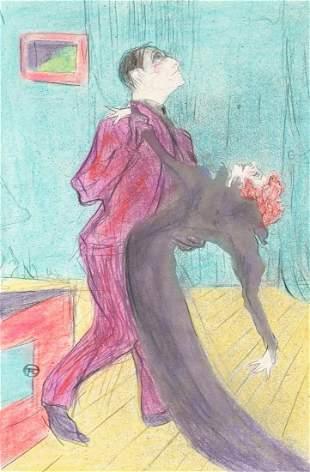 Henri Toulouse-Lautrec French Litho on Paper Cert