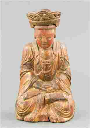 Chinese Ming Wood Carved Buddha 15/16 Century