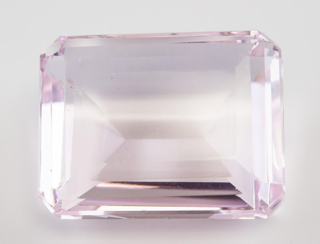 93.05ct Emerald Cut Pink Natural Amethyst GGL