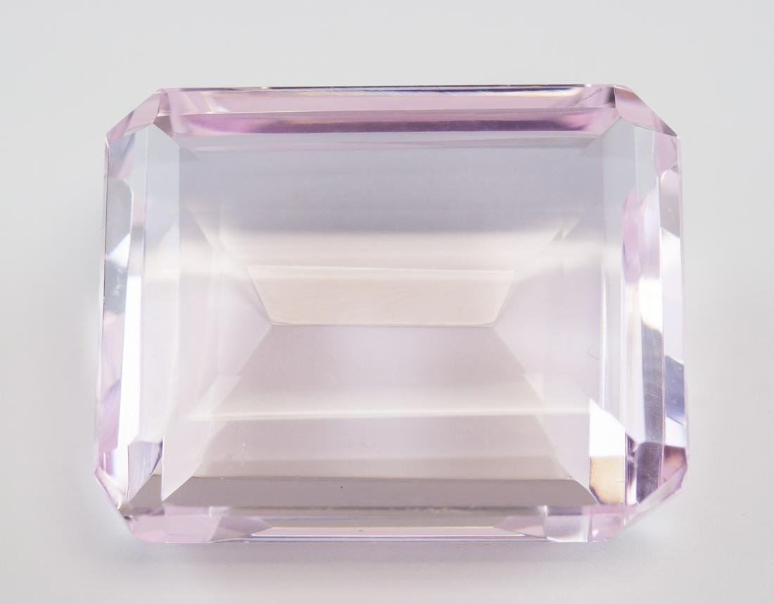 101.55ct Emerald Cut Pink Natural Amethyst GGL