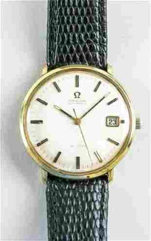 Omega De Ville Automatic Gold Dial Quartz Watch