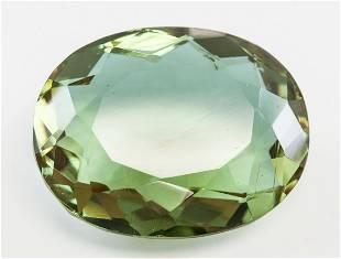 90.05ct Oval Cut Brown to Green Alexandrite GGL
