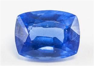 7.60ct Cushion Cut Blue Natural Sapphire GGL