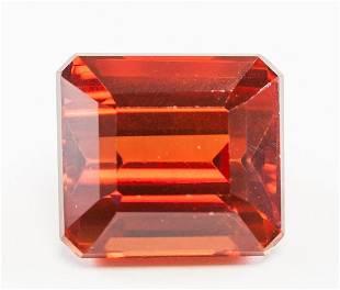 .05ct Emerald Cut Orange Natural Sapphire GGL