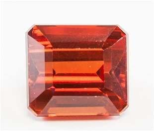 16.05ct Emerald Cut Orange Natural Sapphire GGL