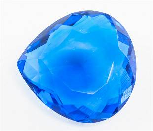 90.20ct Pear Cut Blue Tanzanite GGL