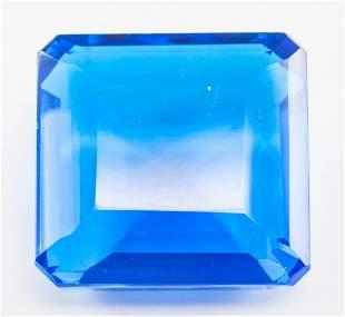 95.75ct Emerald Cut Blue Tanzanite GGL