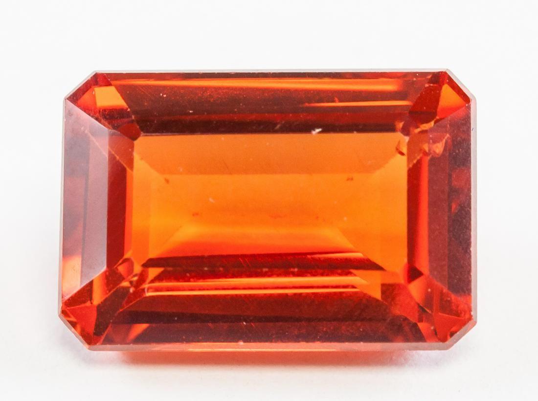 11.50ct Emerald Cut Orange Natural Sapphire GGL