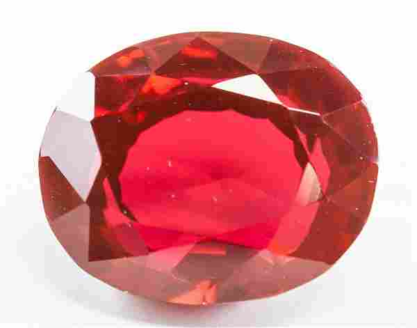 40.35ct Oval Cut Blood Red Natural Ruby GGL