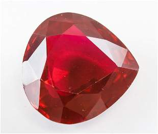 42.80ct Pear Cut Red Natural Ruby GGL