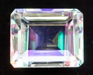 197.00ct Emerald Cut Natural Mystic Quartz GGL