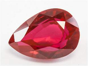 22.65ct Pear Cut Red Natural Ruby GGL