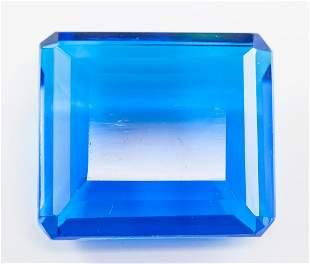131.65ct Emerald Cut Blue Tanzanite GGL