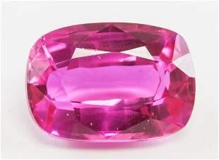 10.40ct Cushion Cut Pink Natural Ruby GGL