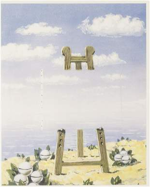 Belgian Lithograph 89/200 Signed Magritte