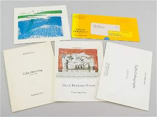 Five David Hockney Pamphlets