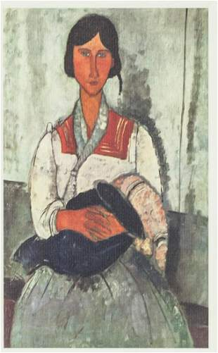 Italian Lithograph XXX/C Signed Modigliani