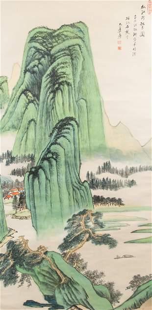 Zhang Daqian 1899-1983 Chinese Watercolor on Paper