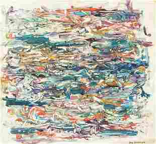 American Oil on Canvas Signed Joan Mitchell