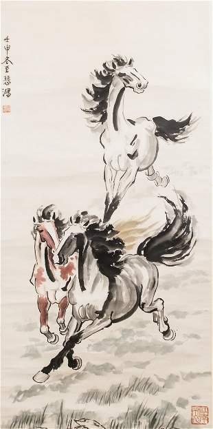 Xu Beihong 1895-1953 Chinese Watercolor on Paper