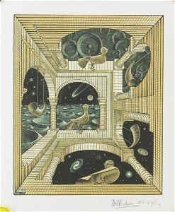 Dutch Lithograph 23/100 Signed MC Escher