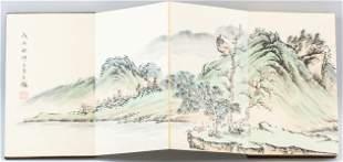 Chinese Watercolor Booklet Signed Wang Jian