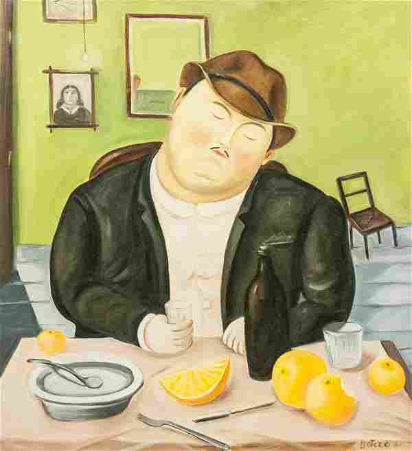Colombian Oil on Canvas Signed Botero